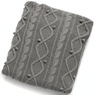 Grey Woollen Throw