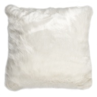 White Fur Cushion