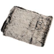 Grey Fur Throw