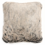 Grey Fur Cushion