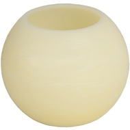 Ball Shaped LED Wax Candle Ivory Finish