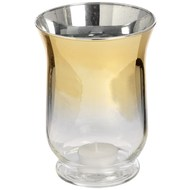 Silver Curved Brass Ombre Tea Light Holder.