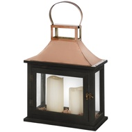 Black Lantern With Copper Effect Top