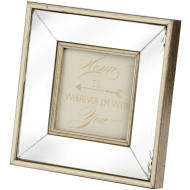 Square Mirror Bordered Photo Frame 4x4