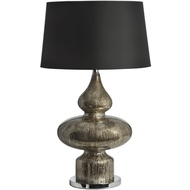 Moroccan mercury finish table lamp.