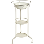 Le  Bain  White  Enamel  Basin  On  Metal  Stand
