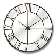 Metal Wall Clock with Mirror