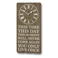 YOLO Clock Plaque