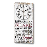 Family Rules Clock Plaque