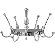 Wall Mounted Silver Hat & Coat Rack