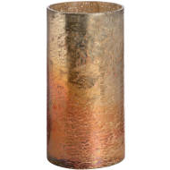 Copper Ombre Metallic Glass Large Candle Holder