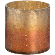 Copper Ombre Metallic Glass Small Candle Holder