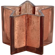 Copper Ombre Metallic Glass Star Tealight Candle Holder