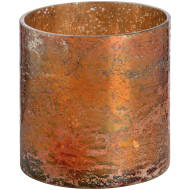 Copper Ombre Metallic Glass Tealight Candle Holder