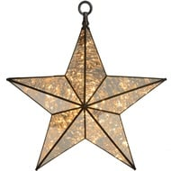 Antique Bronze Pre Lit Hanging Star