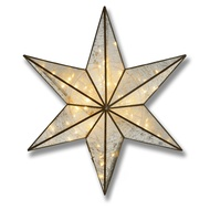 Antique Bronze Large Illuminated Star Wall Mirror