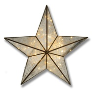 Antique Bronze Small Illuminated Star Wall Mirror