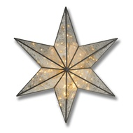 Antique Silver Large Illuminated Star Wall Mirror