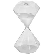 White Hexagonal Glass Timer