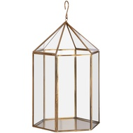 Gold Hexagonal Suspended Planter