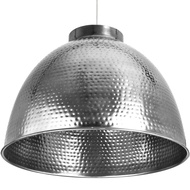 Large Hammered Nickle Pendant Light