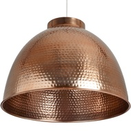 Large Hammered Copper Pendant Light