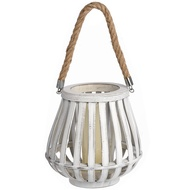 Medium Washed Lantern With Natural Rope