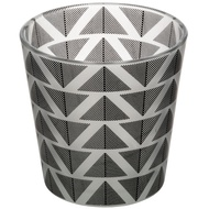 Grey And White Geometric Tealight Holder