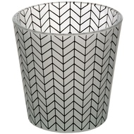 Grey And White Chevron Tealight Holder