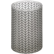 Grey And White Small Chevron Tealight Cylinder