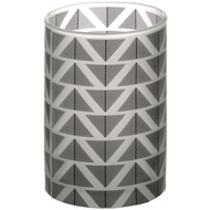 Grey And White Large Chevron Tealight Cylinder