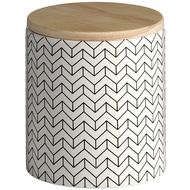 Ceramic Patterned Storage Jar