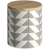 Ceramic Geometric Storage Jar