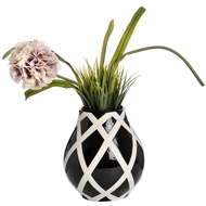 Black And White Contemporary Lattice Bottle Vase