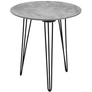 Concrete Effect Topped Side Table