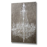 Textured Cement Effect Chandelier Wall Art