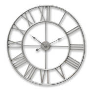 Large Silver Skeleton Wall Clock