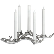 Large Branch Candle Holder in Brushed Silver