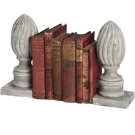 Antique Acorn Finial Bookends
