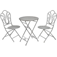 Antique Grey Bistro Set