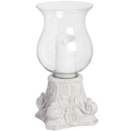 Large Antique White Scroll Sconce