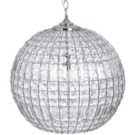 Chic Silver Ball Chandelier