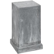 Antique Grey Outdoor Urn Stand