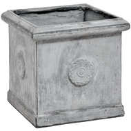 Antique Grey Square Large Outdoor Planter