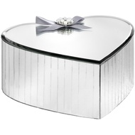 Large Mirrored Heart Shaped Trinket Box