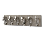 Barn Owl Yorkshire Tweed with Six Horse Head Coat hooks