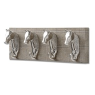 Barn Owl Yorkshire Tweed  with Four Horse Head Coat hooks