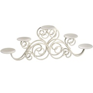 Ivory Five Candle Stand Candle Holder