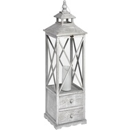 Large Traditional Floor Standing Lantern With Two Drawers