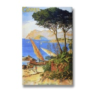Cannes Post Card Canvas